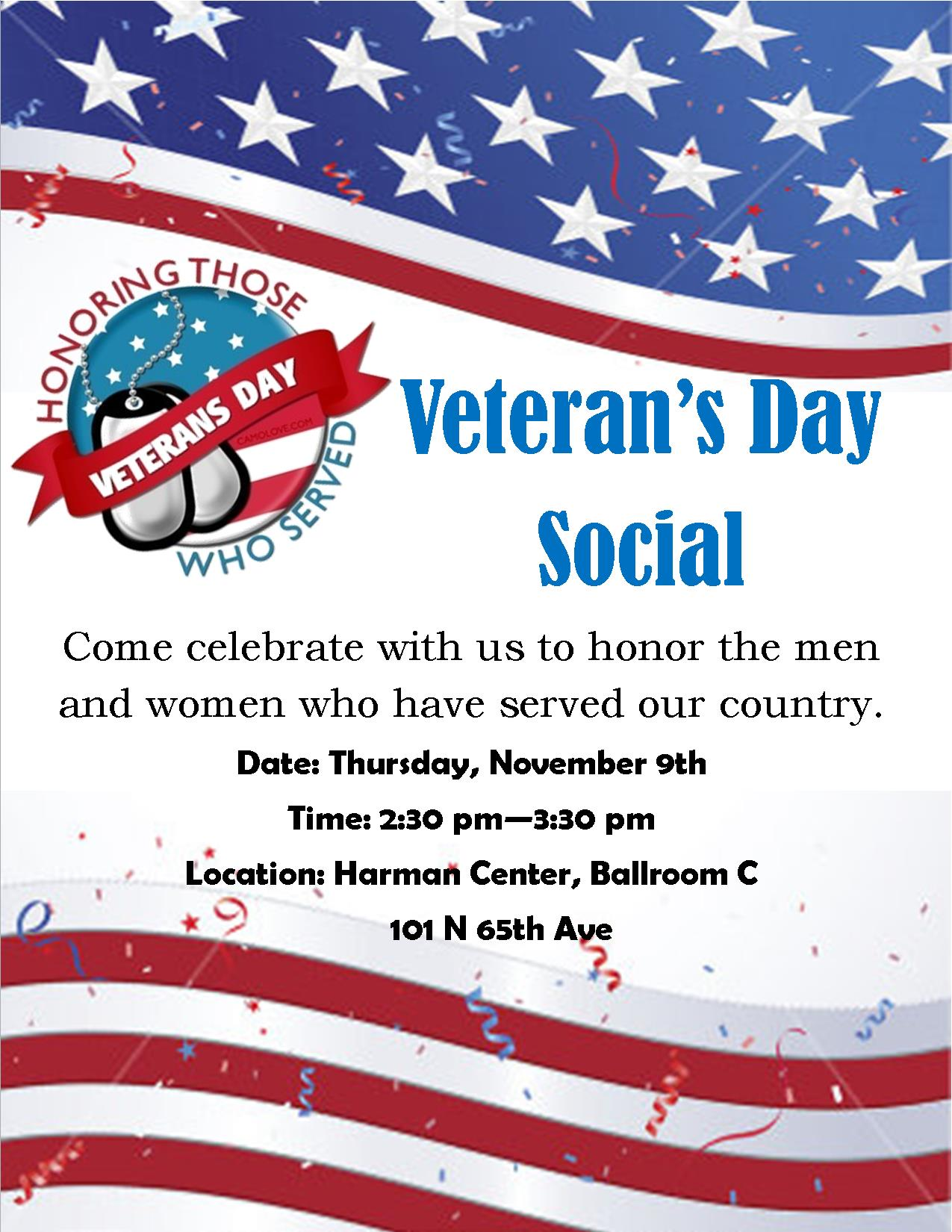 Veteran 39 S Day Social Yakima Parks And Recreation